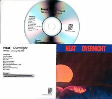 HEAT Overnight 2017 UK 9-track promo test CD