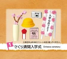 Re-ment Miniature schoolyard memories camera hat cherryblossom entrance ceremony