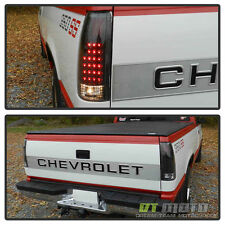 Black 1988-1998 Silverado C10 C/K Suburban Tahoe Sierra LED Tail Lights Lamps
