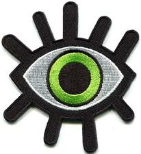 Evil Green Eye Illuminati Embroidered Iron On Sew Shirt Bag Jeans Badge Patch