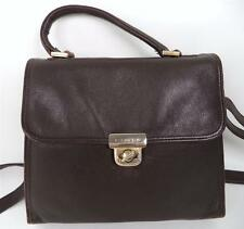 VINTAGE PICARD BROWN LEATHER SATCHEL SHOULDER BAG TOP HANDLE HANDBAG