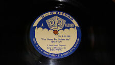 "DICK WONG & JACK STOUT You Never Did / Rendezvous With Rose 10"" D and D 45-1903"