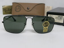 New Vintage B&L Ray Ban Classic Metals Explorer Black W0503 Aviator  USA NOS