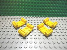 Lego 4 Yellow 2x4 mudguard with grill car truck