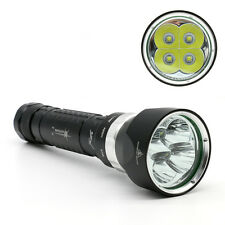 Professionnel 4x CREE l2 LED Diving Flashlight plongée lampe de poche avec 2x 18650 Batterie