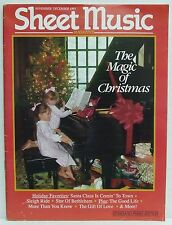 The Magic of Christmas Sheet Music Magazine Piano November/December 1991 RARE!