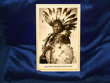 Rain-In-The-Face Lakota Warrior Chief 1870s Cabinet Card Photograph