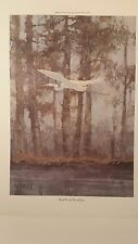 HERON Flying, Two Watercolor Prints, Parade One and Two, Darnell Jones