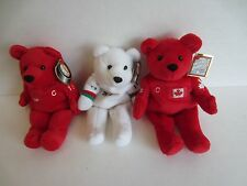 1999 NHL Hockey 3 Salvino's Bammers Plush Bean Bag Bears Gretzky Messier Yzerman
