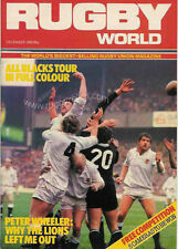 RUGBY WORLD MAGAZINE DECEMBER 1983 - PERFECT GIFT FOR A FAN BORN IN THIS MONTH
