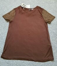 ZARA Collection Ladies brown TOP. Size M. Brand new with tags.