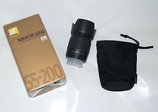 Nikon AF-S DX 55-200mm F/4-5.6 G VR ED Nikkor Lens DX Digital + HB-34 Hood