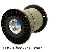 American Fishing Wire 7x7 49-Strand Stainless Leader,200' 900 lb shark wahoo