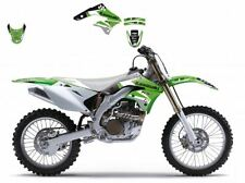BLACKBIRD KAWASAKI KXF 450 2007 KIT GRAFICHE ADESIVI DREAM 3 GRAPHICS VERDI NERE