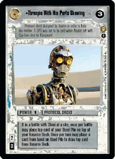 Threepio With His Parts Showing AI [played] TATOOINE star wars ccg swccg