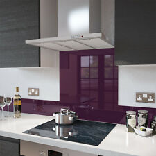 Deep Purple-Vidrio salpicaduras upstand en 140 Mm X 1000mm