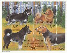 Finland 1989 Mnh Finnish Dogs Karelian Bear Dog Hound Spitz Reindeer Sc 794 - K9