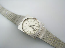 Handsome Wittnauer Geneve Mechanical Watch in Silver Tone - 1970's