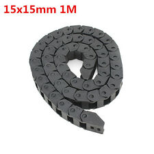 15x15mm L1000mm Plastic Cable Drag Chain Wire Carrier for CNC Router Machine