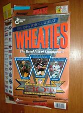 30th Anniversary of SuperBowl Cereal Box from 1996,Starr,Bradshaw,Aikman,EUC