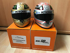 M.Schumacher SPA 2012 & 2011 Platin & Gold Schuberth F1 Helm Helmet 1:2  **New**