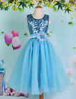 Girls Sequins Prom Party Dress/Bridesmaid/Princess/Flower Girl Dresses Age 7-12