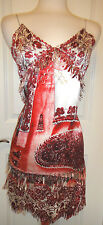 Jean Paul Gaultier Femme Red/White Fringe Dress~Sz6~SUPERB & SEXY~Made in Italy~