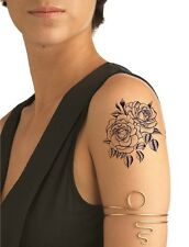 SHIP FROM NY - Temporary Tattoo - Blue Twin Rose