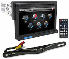 "Power Acoustik PD-710 7"" Car Stereo DVD/USB Player Receiver+License Plate Camera"