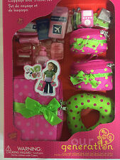 "Our Generation 18"" Doll Luggage and Travel Set Suitcase Fits American Girl Doll"