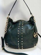 Michael Kors Astor Green Leather Shoulder Bag Crossbody Bag