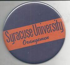 Vintage Syracuse University Orangemen 6 Inch Button Final Four