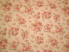 Cottage Shabby Chic Floral Fabric Mary Rose 2140Y-14B, Rose Bouquets BTY