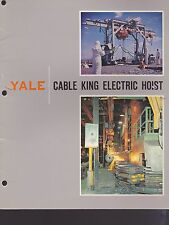 1963 VINTAGE CATALOG #2114 - YALE CABLE KING ELECTRIC HOIST
