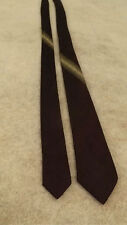 VTG Wembley Metallic Skinny Tie Incredible Maroon w/Silver Stripe Mad  50s Men