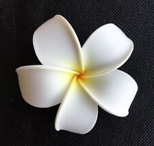 Hawaiian Plumeria Foam Flower Hair CLIP White Yellow Wedding Bridal Luau Party