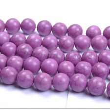 30Pcs Purple TURQUOISE Round Charms Loose Spacer BEADS 8MM