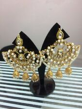 Kundan Chandbali Earrings Jhumki Jhumka Chandelier Indian Wedding Jewelery