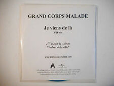 GRAND CORPS MALADE : JE VIENS DE LA ♦ CD SINGLE PORT GRATUIT ♦