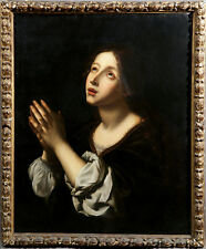 18th Century Follower of Carlo Dolci Italian Religious Oil Painting La Speranza