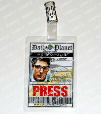Superman Clark Kent ID Badge Press Pass Daily Planet Cosplay Costume Comic Con