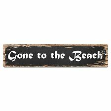 SP0042 Gone to the Beach Street Sign Bar Store Shop Cafe Home Kitchen Decor