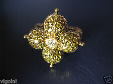 BARBARA BIXBY YELLOW SAPPHIRE TOPAZ RING SIZE 9 FLOWER LOTUS GIFT DESIGNER