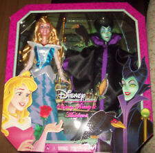 Mattel DISNEY Signature Collection Sleeping Beauty & Maleficent Doll Set NIB