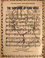 A4 Photo Cooke & Ray Sheet Music 1915 The Sunshine of your Smile Print Poster