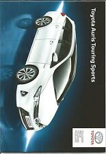 NEW PARIS Catalogue brochure  TOYOTA AURIS TOURING SPORTS ANNEE 2014 34 Pages