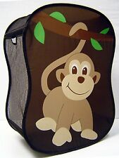 Clothes Hamper Laundry Basket Monkey Green Brown Starting Small Baby 3045 NEW !