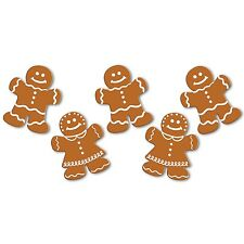CHRISTMAS GINGERBREAD MEN WOMEN WILLY WONKA CANDY BIRTHDAY PARTY CUTOUTS x10!