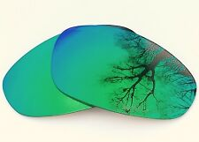 NEW ENGRAVED POLARIZED GREEN CUSTOM MIRRORED REPLACEMENT OAKLEY JULIET LENSES