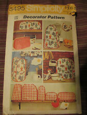 vntg Simplicity Small Kitchen Appliance Cover Pattern UNCUT Blender/Toaster 5495